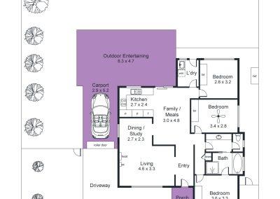 10 Lapwing Street, Hallett Cove - Floorplan