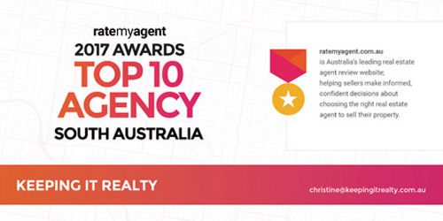 RateMyAgent Top 10 Agency South Australia